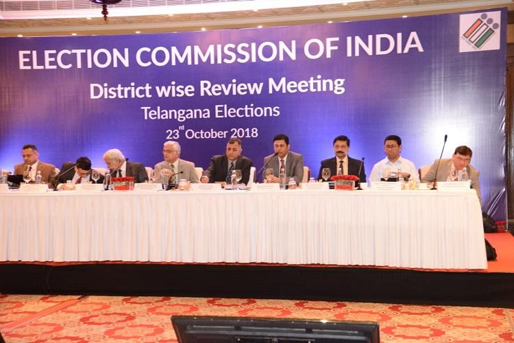 Telangana polls CEC reviews law and order preparations with senior police officials