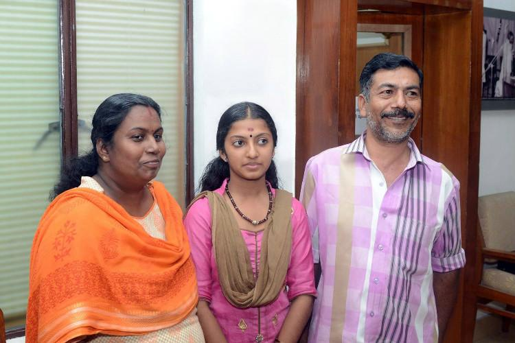 The girl who got vigilance officials stationed at school Kalolsavam gets a pat from Pinarayi
