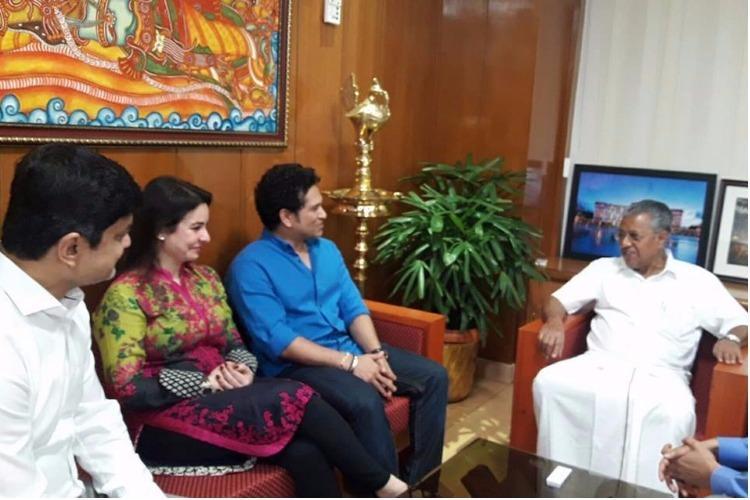 Tendulkar meets Kerala CM seeks support for ISL season