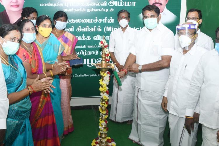 TN CM Edappadi K Palaniswami inaugurating a scheme in Chennai