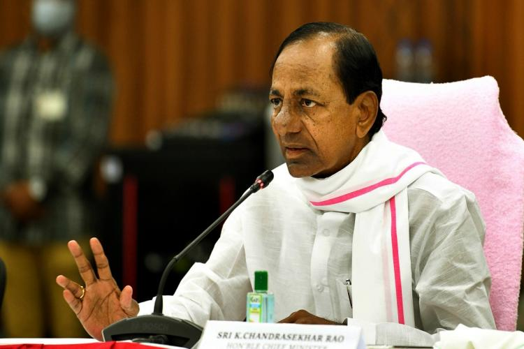 CM KCR during a review with officials