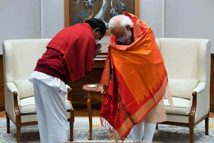 Telangana CM KCR and PM Modi exchanges greetings