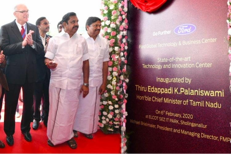 New RD facility of Ford Motors inaugurated in Chennai by TN CM