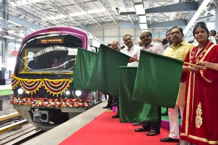 Green Line of Bengalurus Namma Metro gets its first six-car train