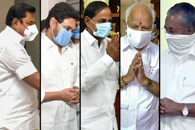 Collage of EPS Jagan KCR Yediyurappa and Pinarayi Vijayan