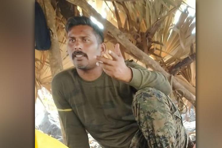 CoBRA Commando Rakeshwar Singh Manhass photo that was allegedly released by maoists