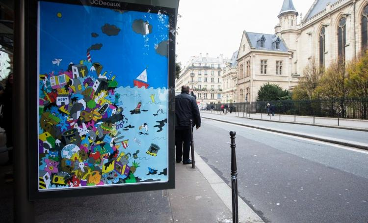Why artists installed 600 fake advertisements at COP21