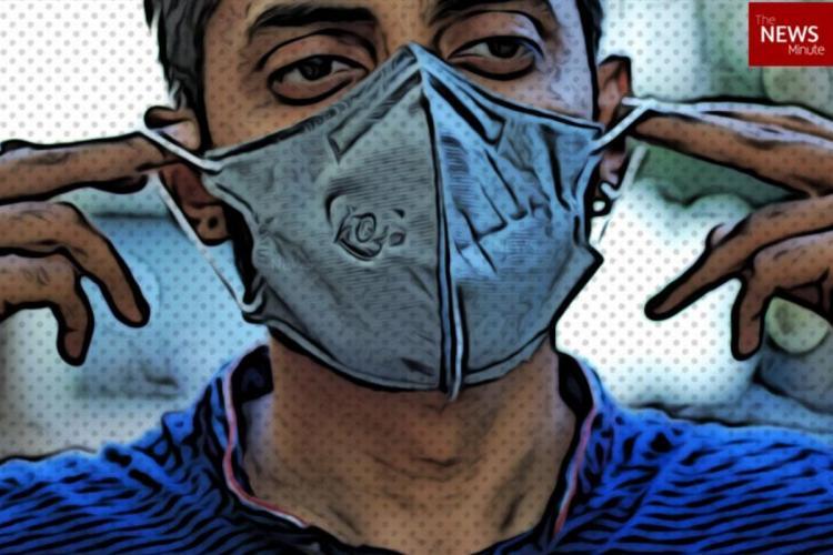 A representative image of a man wearing a mask