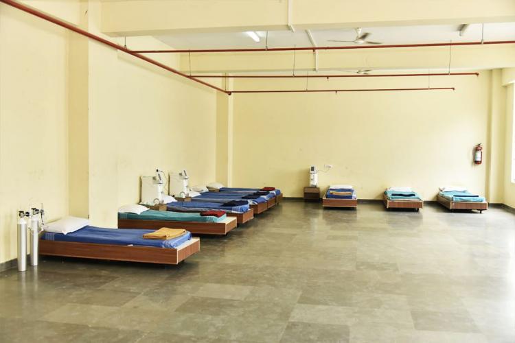 COVID-19 Care Center at Haj Bhavana Bengaluru
