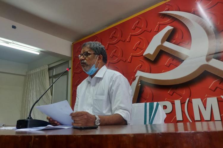 CPIMs Vijayaraghavan at the CPIM office