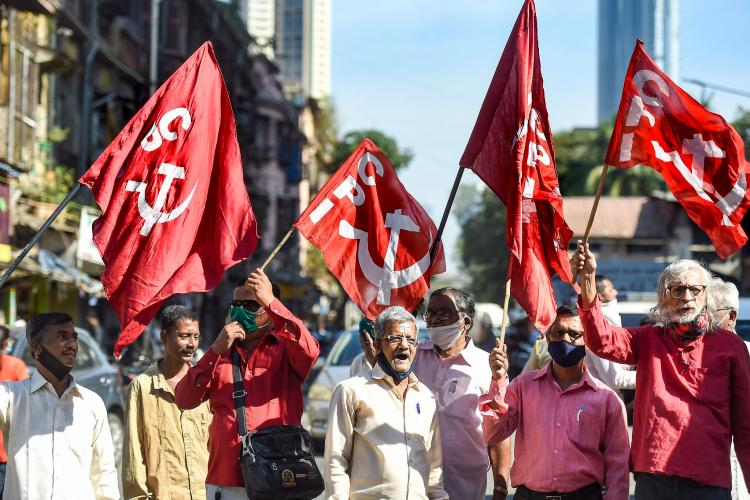 Members of party CPIM protesting