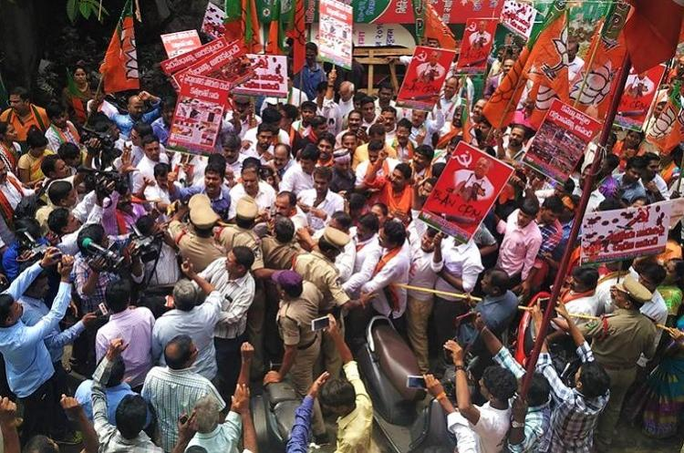 CPIM alleges vandalism by RSS-BJP in Vizag party workers clash