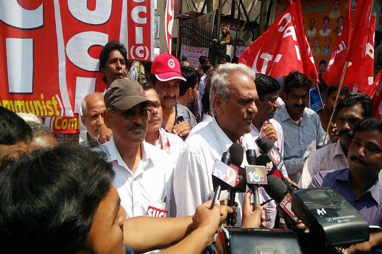 CPI activists held in Hyderabad for protests seeking Hyd Uni VCs removal