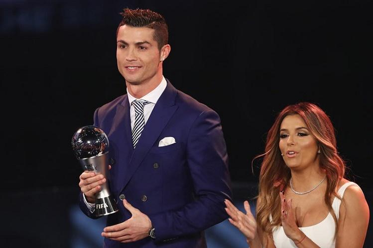 Cristiano Ronaldo named player of the year at new FIFA awards