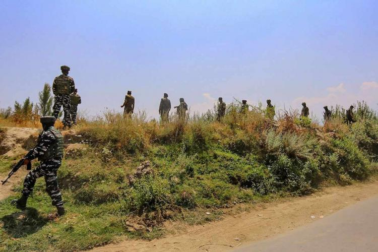 A representative image of CRPF security personnel patrolling an area
