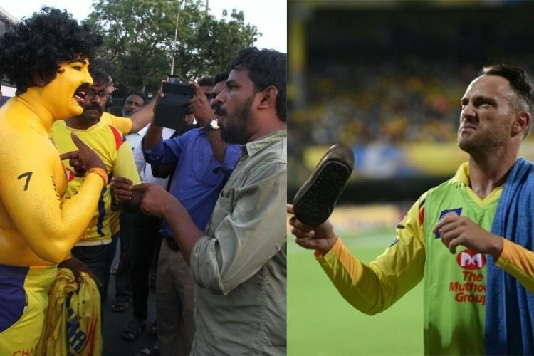 CSKs super fan assaulted shoes thrown into stadium by protesters in Chennai
