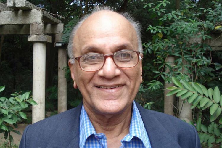 Indian mathematician CS Seshadri smiling