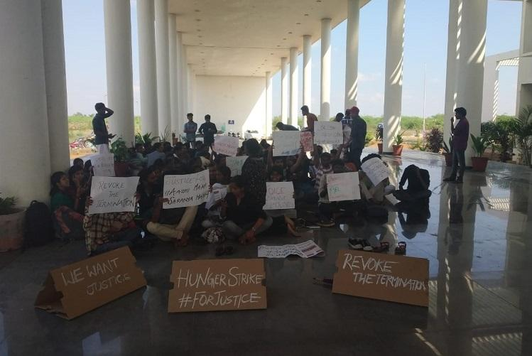 10 students of TN Central University go on hunger strike against sacking of professors