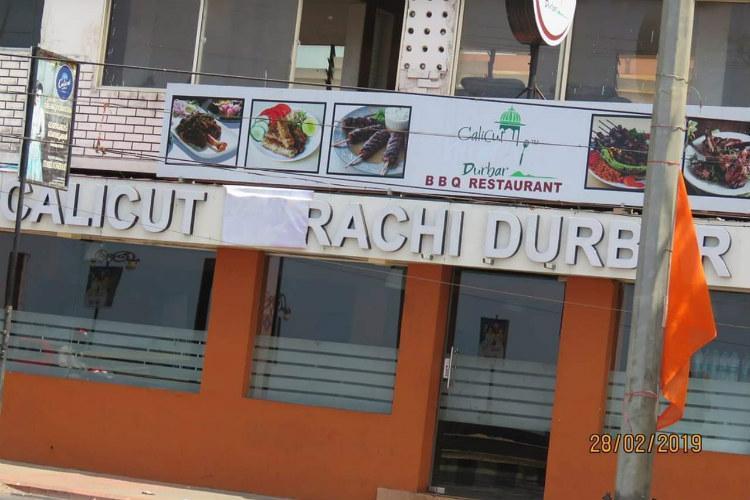 Calicut Karachi Durbar covers name board after pressure