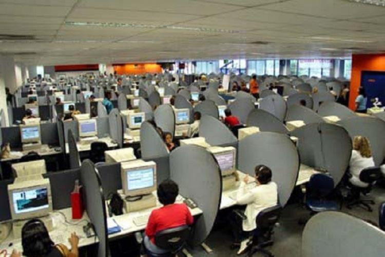 File photo of a call centre