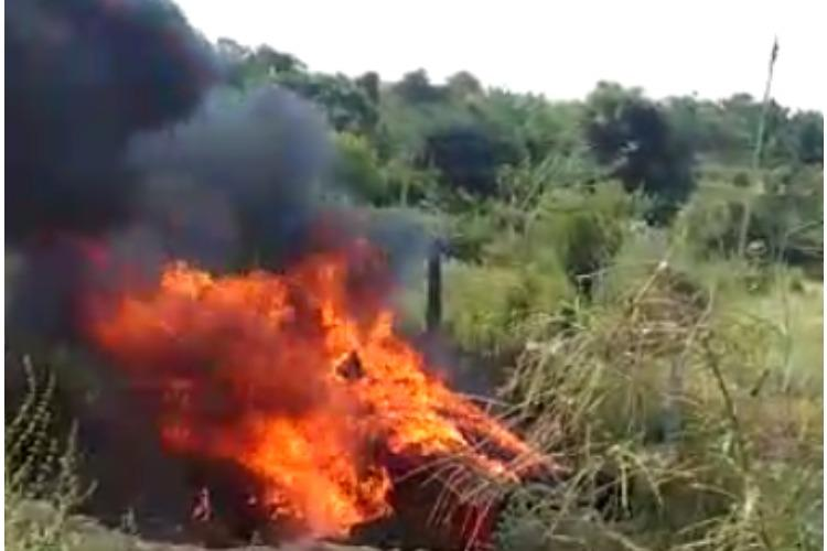 Five of a family killed after car overturns catches fire on Bengaluru-Tirupati highway