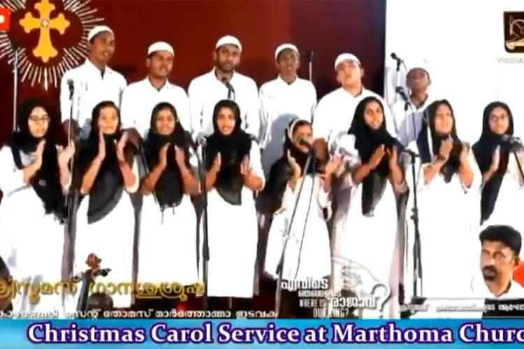 Watch In Kerala church choir sings Christmas carols wearing skullcaps hijabs to protest CAA