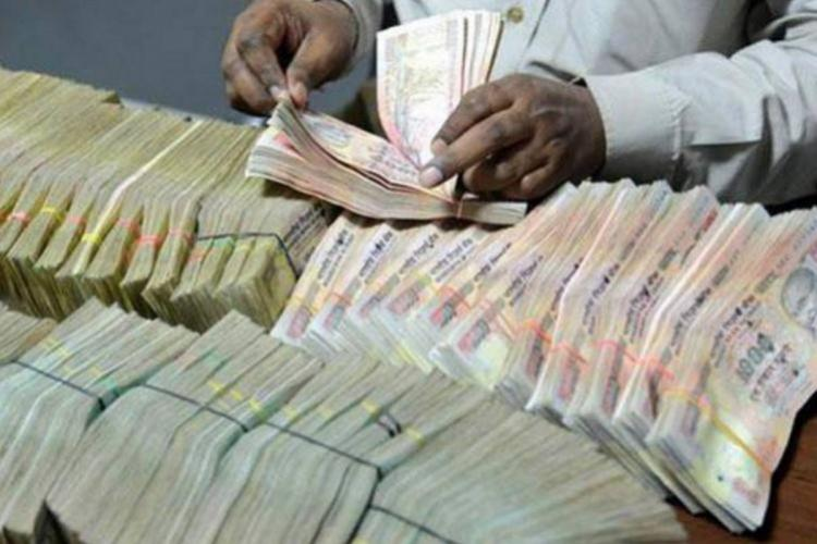 mountain load of cash being counted