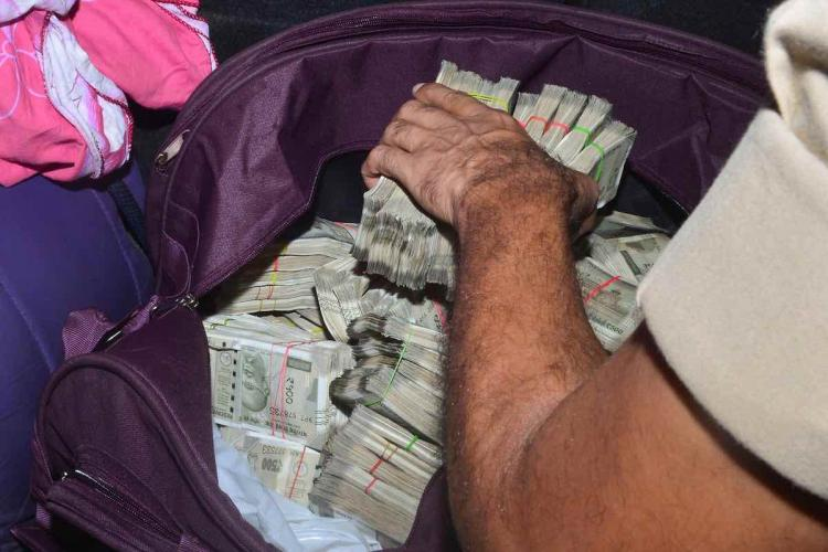 Police recover Rs 74 lakh cash from a car of an RJD leader ahead of Bihar Assembly elections in Patna