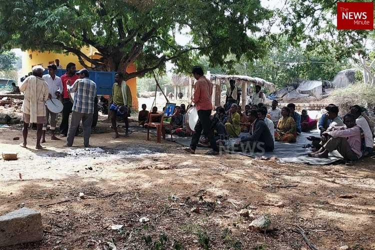 Dalits protest in Karnataka over caste discrimination in constructing house