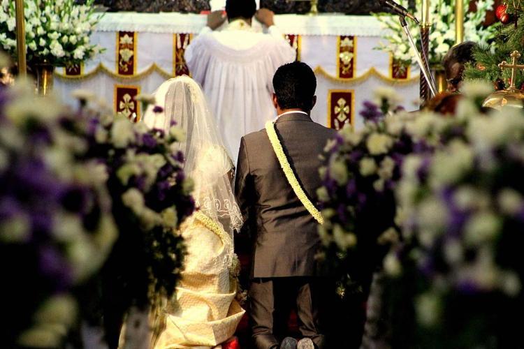 Representative image of a Christian wedding