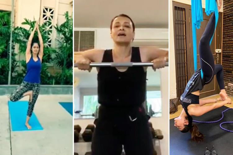 Simran Amala Akkineni Rakulpreet workout during lockdown