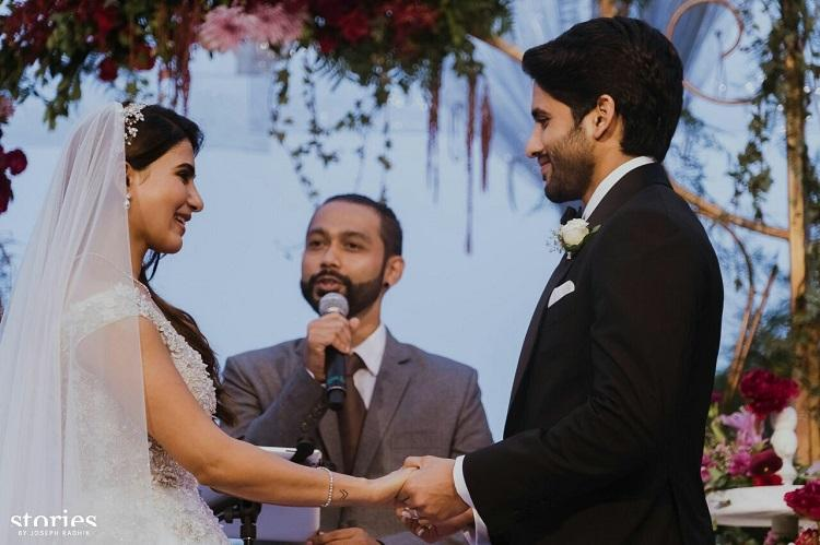 Watch Samantha and Naga Chaitanya walk down the aisle in style at the Christian wedding