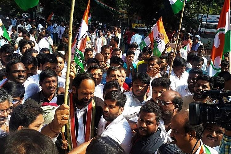 Stormy start to Telangana Assembly Congress workers detained during Chalo Assembly
