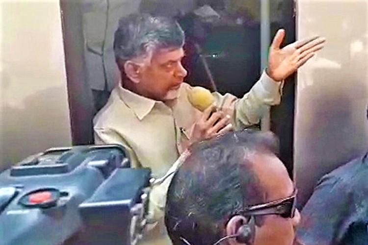If you mess with me youll be finished AP CM Naidu threatens BJP workers