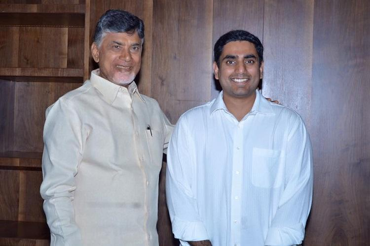 Andhra cabinet rejig CM Naidu inducts son Nara Lokesh shunts out five ministers