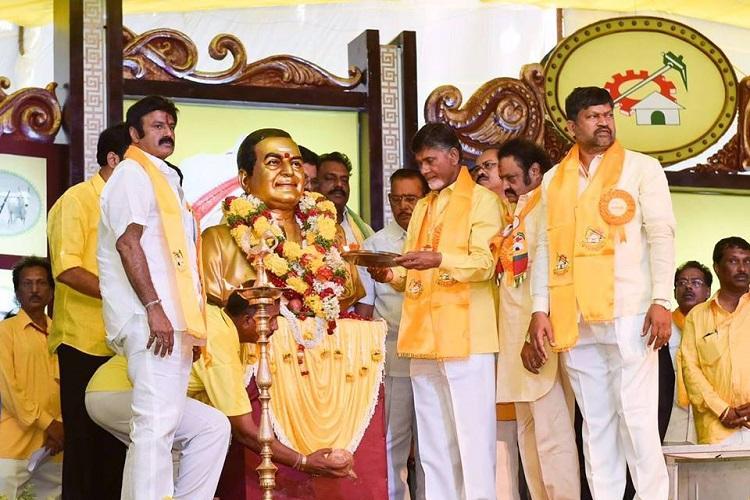 Chandrababu silent on NTR