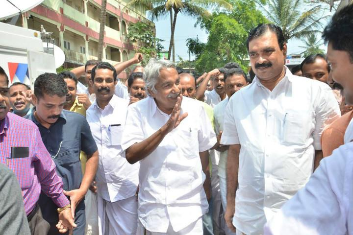 At home in Puthupally much-adored Kerala CM Chandy could strut his way to victory