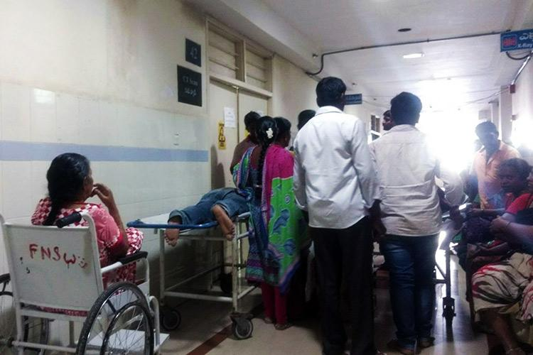 Long queues and struggling patients Just one CT scan machine at the Guntur govt hospital