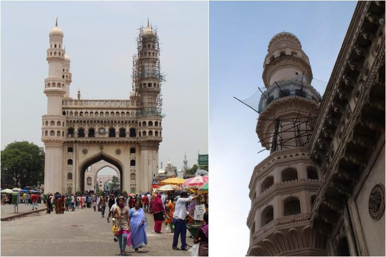 Why did part of Charminar fall off Government bodies blame each other