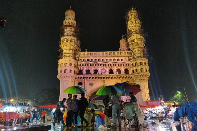 An image of historic Charminar monument in Hyderabad