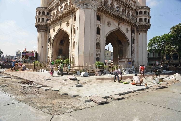 Charminar Pedestrianisation Project Work sped up ahead of Ivanka Trumps Hyd visit