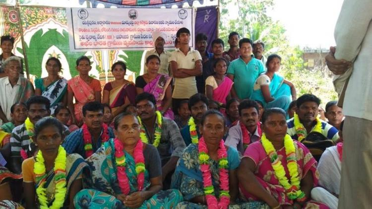 Tribal persons stage relay protest in Andhra allege that their land was stolen