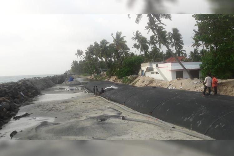With seawall construction stalled Kerala coastal village residents protest