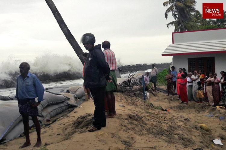 Coastal village in Ernakulam flooded again people desperate for sea wall