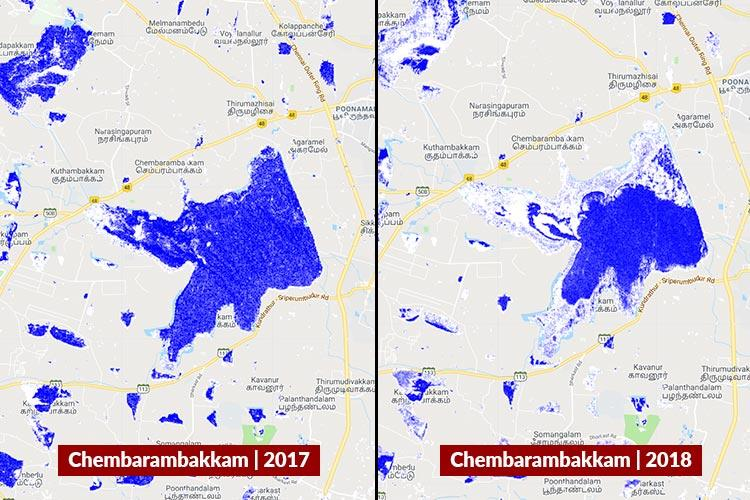 Satellite images of dry lakes show how bad Chennais water crisis could get