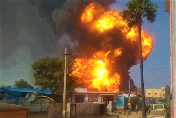 Video Several injured as petrol tankers catch fire in Hyderabad