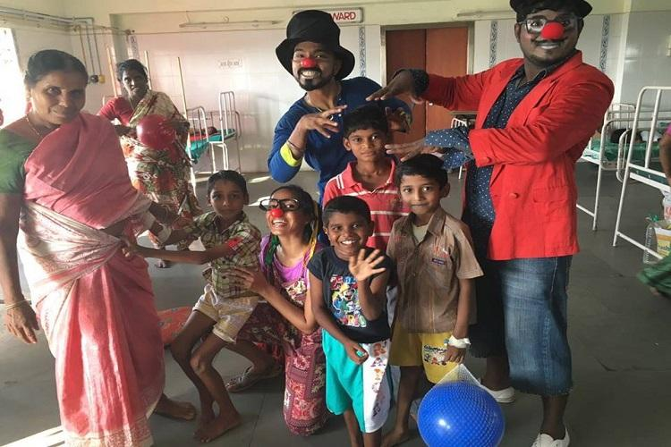 In Chennais hospitals these clowns are making kids smile forget their pain