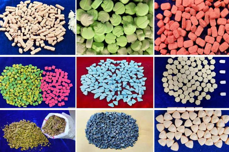 MDMA Ecstasy and other drugs and narcotic substances seized in Chennai International airport
