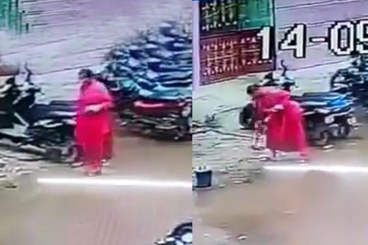 A woman in Chennai who was electrocuted by a live wire while walking on the road