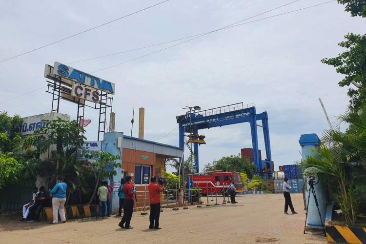 TNPCB conducted inspection in the CFS where ammonium nitrate is stored in Chennai
